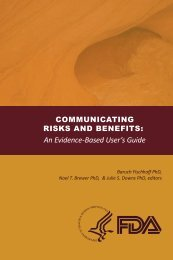 Communicating Risks and Benefits: An Evidence-Based User's Guide