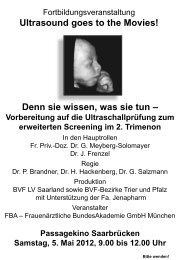 Ultrasound goes to the Movies! - Bvf-saarland.de