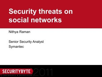 Security threats on social networks - Securitybyte