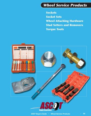 Download the Wheel Service Products catalog. (PDF)