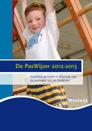 De PasWijzer 2012-2013 - Gemeente Waalwijk