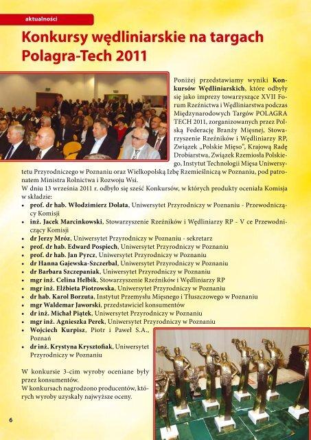Konkursy wędliniarskie na targach Polagra-Tech 2011