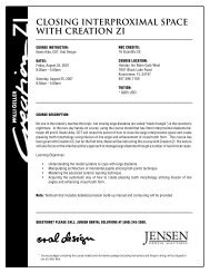 closing interproximal space with creation zi - Jensen Dental