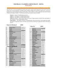 FOOTBALL CLASSIFICATIONS 2014/15 – 2015/16 - Ossaaonline.com