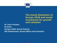 The social dimension of Europe 2020 and social investment for ...