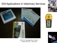 GIS Applications in Veterinary Services - Caribvet