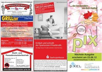 Anzeigenflyer Mai - pixel - Grafikstudio