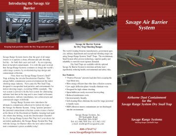 Savage Air Barrier System - Savage Range Systems