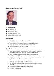 Vita und Publikation (PDF) - Sky Lounge Sky Lounge - SRH Holding