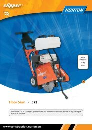 Floor Saw C71 - Norton Construction Products