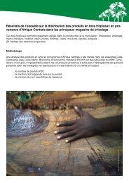 Résultats de l'enquête sur la distribution des produits ... - WWF France