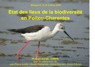 Etat des lieux de la biodiversité en Poitou-Charentes Philippe Jourde