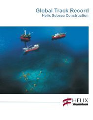 Global Track Record - Helix Energy Solutions