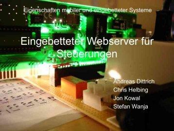 Eingebetteter Webserver für Steuerungen - Andreas Dittrich