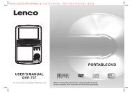 1202130 PDVD-12307C MTK1389Q方案 英语说明书 - Lenco