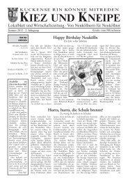 Happy Birthday Neukölln - Kiez und Kneipe Neukölln