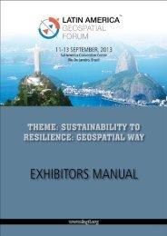 Exhibitor Mannual - Latin America Geospatial Forum