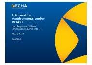 Information requirements under REACH - Europa