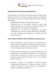 Declaración de Cabra - Página 1 de cada 4
