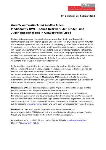 Pressemitteilung als Pdf-Datei - GMK
