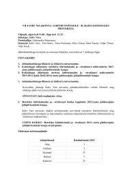 Viljandi JN protokoll - Keskkonnaamet