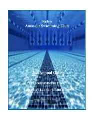 Kelso Amateur Swimming Club 3rd Annual Gala - Swim Scotland