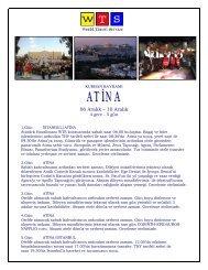 Atina bayram turu ile ilgili fiyat seçenekleri ve otel detayları için tıklayın