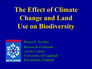 Implications for adaptation to climate and - Barentsinfo.org