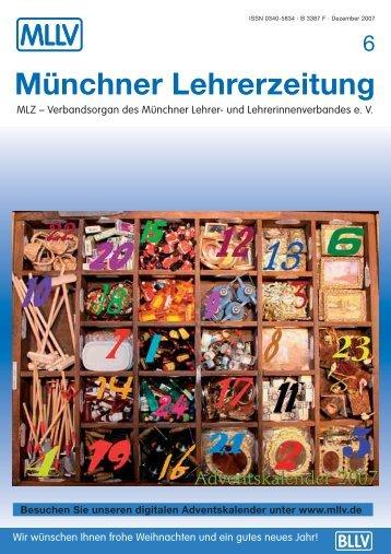 MLZ-Ausgabe Nr. 6 - MLLV - Bayerischer Lehrer