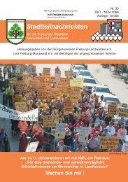 Stadtteilnachrichten Heft 35 - Bürgerverein Freiburg Mooswald eV