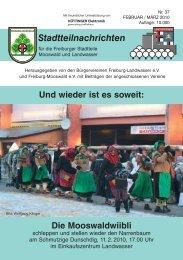 Stadtteilnachrichten Heft 37 - Bürgerverein Freiburg Mooswald eV