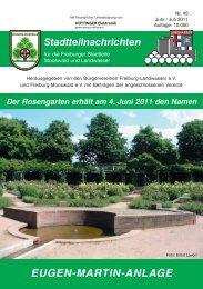 Bilder aus dem Stadtteil Mooswald - Bürgerverein Freiburg ...