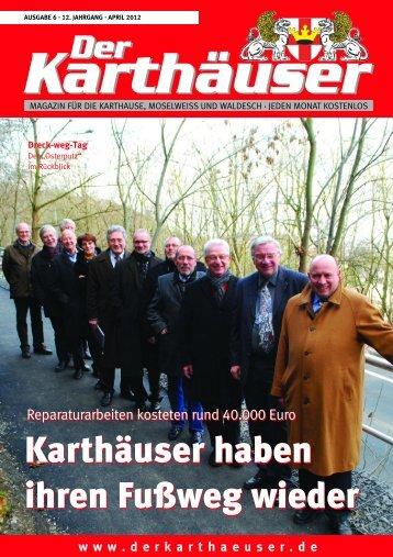 Gültig vom 01.04.- 30.04.2012 - Der Karthäuser