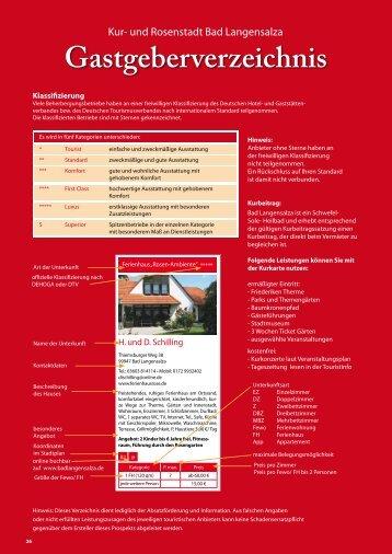 Gastgeberverzeichnis - Bad Langensalza