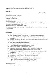 Nõukogu koosoleku protokoll nr-II-7, 28. okt. 2011 - KÜSK