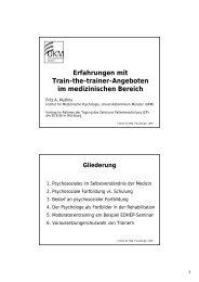 Erfahrungen mit Train-the-trainer-Angeboten im medizinischen ...