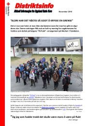 ALDRI HAR DET FØLTES SÅ GODT Å KRYSSE EN ... - Røde Kors