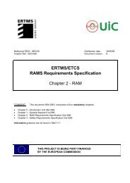 ERTMS/ETCS RAMS Requirements Specification Chapter 2 - RAM