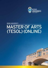 4782 Master of Arts TESOL.indd - Bond University