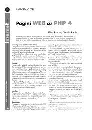nterne Pagini WEB cu PHP 4 - GInfo