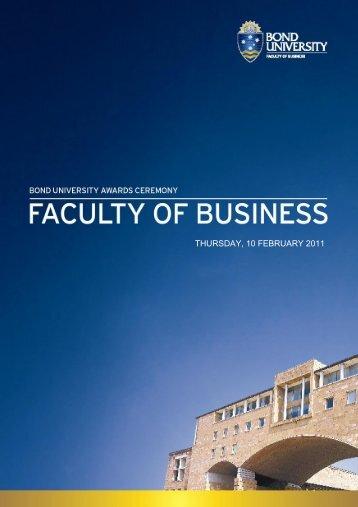THURSDAY, 10 FEBRUARY 2011 - Bond University