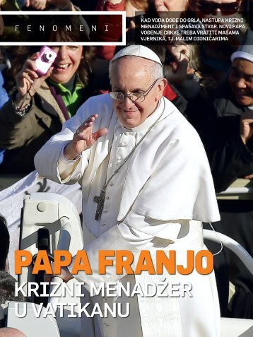 Papa Franjo - Krizni manadžer u Vatikanu - Svanconsulting.com
