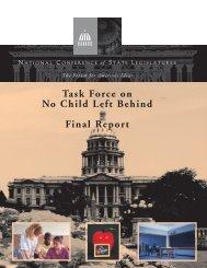 Task Force on No Child Left Behind Final Report - HartfordInfo.org