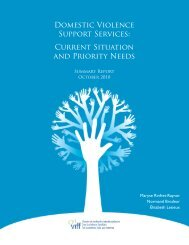 Domestic Violence Support Services: Current Situation and Priority ...