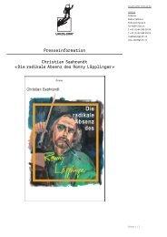 Christian Saehrendt Â«Die radikale Absenz des Ronny ... - Applaus