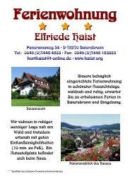 ausdruckbare Broschüre - Ferienwohnung Elfriede Haist
