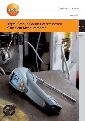 Testo 308 digital smoke count tester