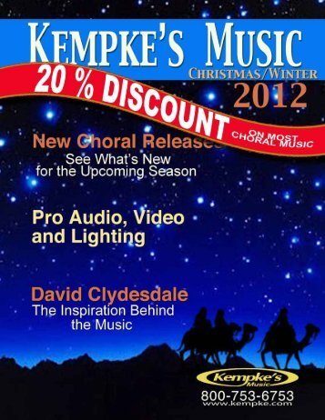 Download 2012 PDF Version of Choral Christmas Catalog