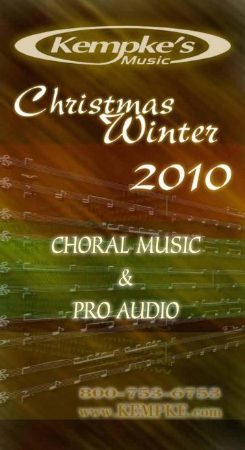 CHORAL MUSIC & PRO AUDIO - Kempke's Music Service