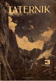 Taternik 3 1978 - Polski Związek Alpinizmu